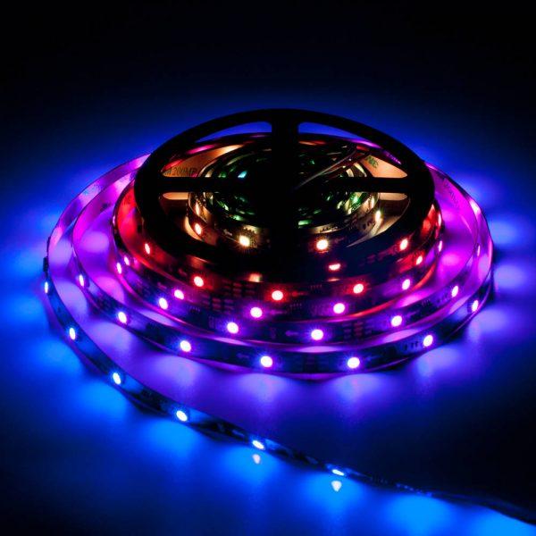 Taśma WS2811 300 LED RGB Czarna